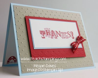 embossing and debossing with the borders scoring plate from stampin up