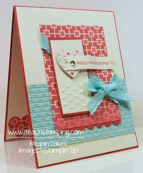 Hearts a Flutter to make a handmade valentine's card, stampin up