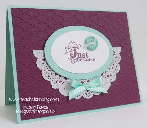 sending a just because hand made greeting card